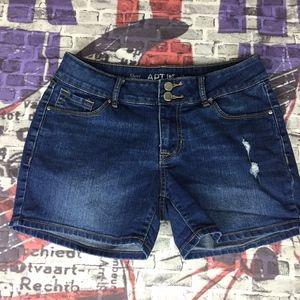 Apt 9 Womens Denim Shorts sz 4 Pockets